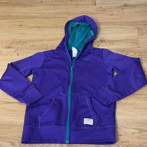 Nike hoodie size large girls